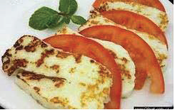 Pan_fried haloumi cheese